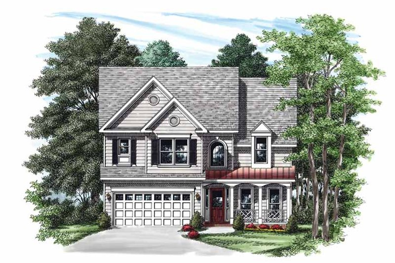 Country Exterior - Front Elevation Plan #927-345
