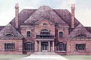 European Style House Plan - 4 Beds 4.5 Baths 5282 Sq/Ft Plan #119-119 Exterior - Front Elevation