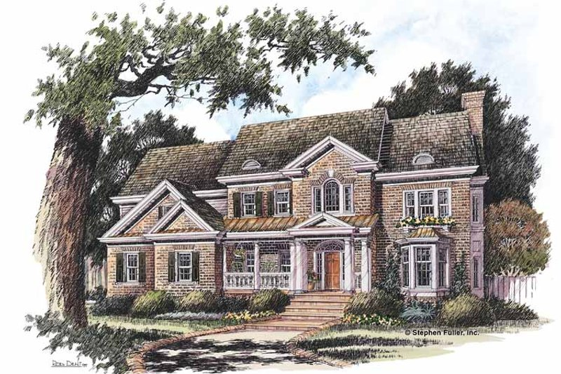 House Plan Design - Classical Exterior - Front Elevation Plan #429-206