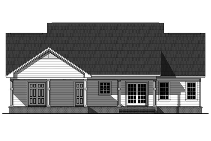Country Exterior - Rear Elevation Plan #21-394 - Houseplans.com