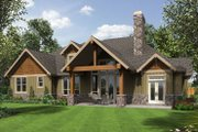 Craftsman Style House Plan - 3 Beds 2.5 Baths 2735 Sq/Ft Plan #48-542 Exterior - Rear Elevation