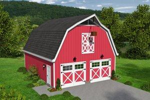 Farmhouse Exterior - Front Elevation Plan #932-159