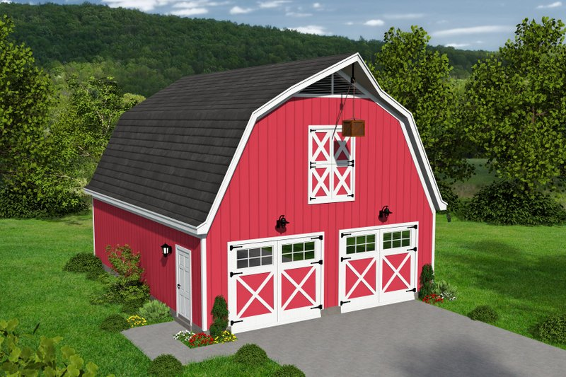 Farmhouse Style House Plan - 0 Beds 0.5 Baths 0 Sq/Ft Plan #932-159
