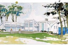 Dream House Plan - Contemporary Exterior - Front Elevation Plan #928-168
