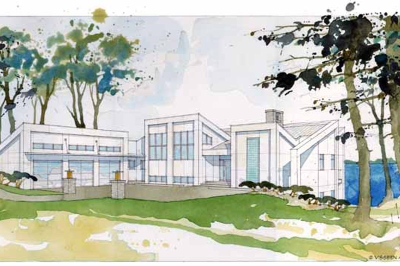 Contemporary Exterior - Front Elevation Plan #928-168