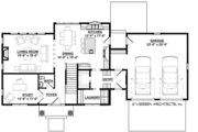Colonial Style House Plan - 4 Beds 2.5 Baths 2608 Sq/Ft Plan #928-289 Floor Plan - Main Floor Plan