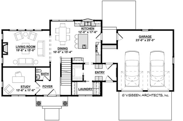 Colonial Floor Plan - Main Floor Plan Plan #928-289