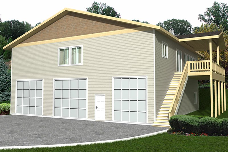 Architectural House Design - Traditional Exterior - Front Elevation Plan #117-867