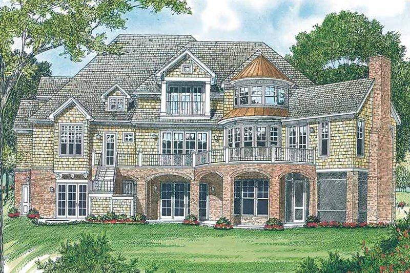 Country Exterior - Rear Elevation Plan #453-403 - Houseplans.com