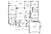 Country Style House Plan - 4 Beds 3 Baths 2209 Sq/Ft Plan #938-68 Floor Plan - Main Floor