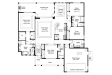 Country Floor Plan - Main Floor Plan Plan #938-68