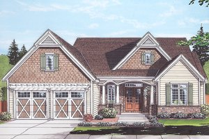 Home Plan - Country Exterior - Front Elevation Plan #46-867