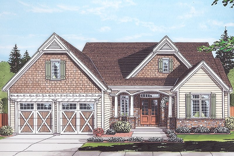 Country Exterior - Front Elevation Plan #46-867