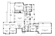 Country Style House Plan - 4 Beds 4.5 Baths 3708 Sq/Ft Plan #1058-80 Floor Plan - Main Floor Plan