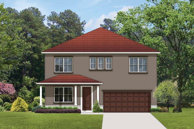 Architectural House Design - Mediterranean Exterior - Front Elevation Plan #1058-64