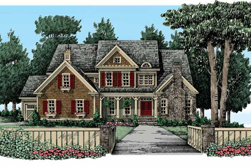 Traditional Exterior - Front Elevation Plan #927-326 - Houseplans.com
