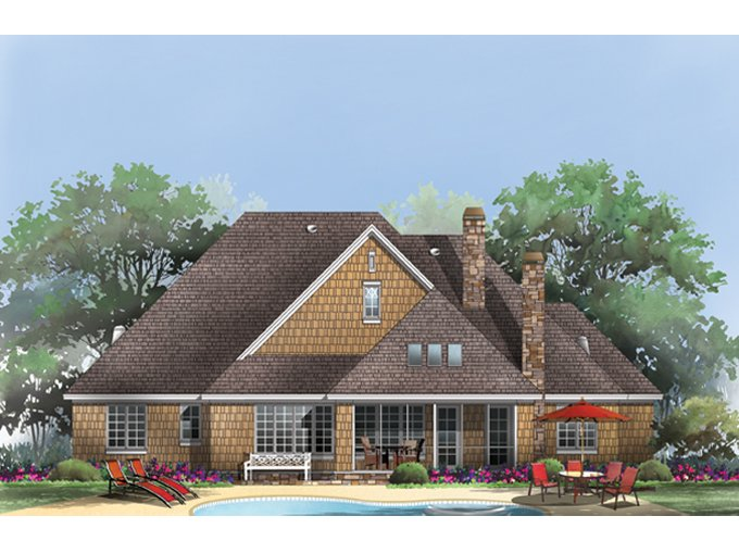 Cottage Exterior - Rear Elevation Plan #929-927 - Houseplans.com