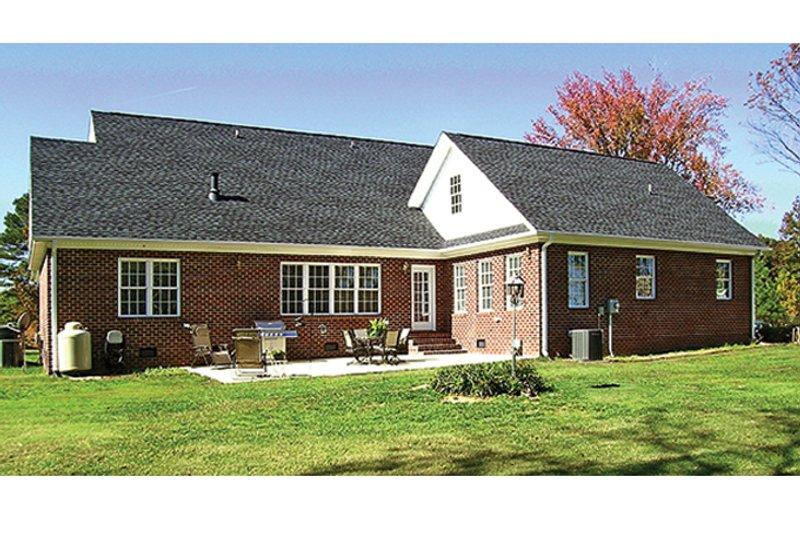 Country Exterior - Rear Elevation Plan #314-281 - Houseplans.com