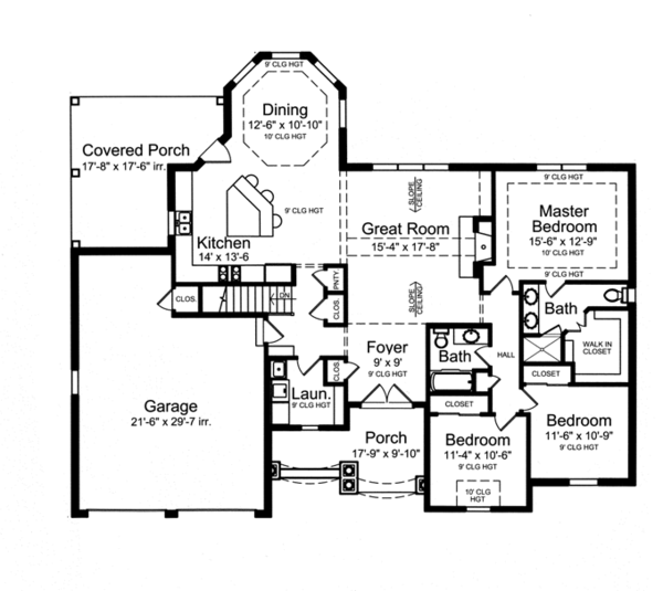 Country Floor Plan - Main Floor Plan Plan #46-820