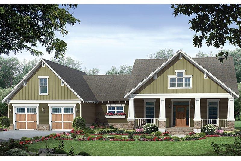 Ranch Exterior - Front Elevation Plan #21-440 - Houseplans.com