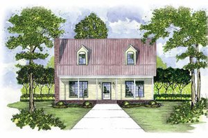 Country Exterior - Front Elevation Plan #36-515