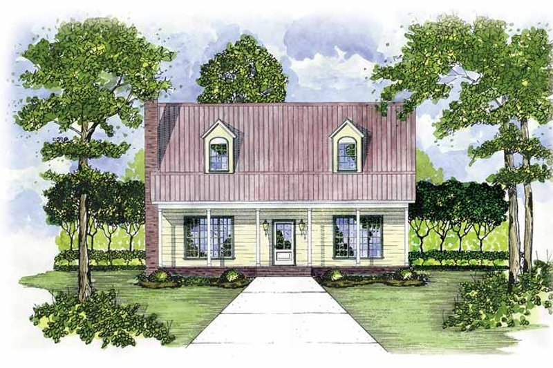 House Plan Design - Country Exterior - Front Elevation Plan #36-515