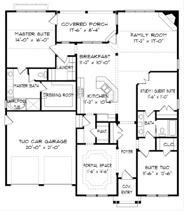 Victorian Floor Plan - Main Floor Plan Plan #413-868
