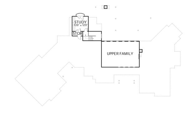 Prairie Floor Plan - Upper Floor Plan Plan #80-211