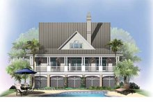 Country Exterior - Rear Elevation Plan #929-752