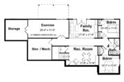 European Style House Plan - 3 Beds 2.5 Baths 3162 Sq/Ft Plan #928-103 Floor Plan - Lower Floor Plan