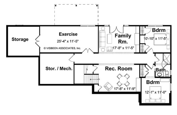 European Floor Plan - Lower Floor Plan Plan #928-103