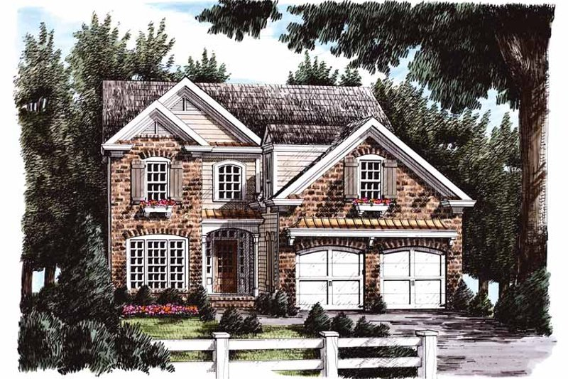 Country Exterior - Front Elevation Plan #927-671