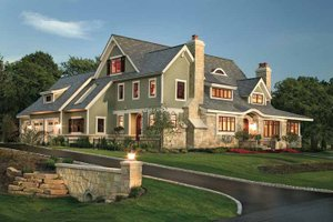 Dream House Plan - Craftsman Exterior - Front Elevation Plan #928-19