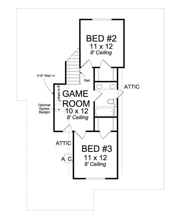 Cottage Floor Plan - Upper Floor Plan Plan #513-2088