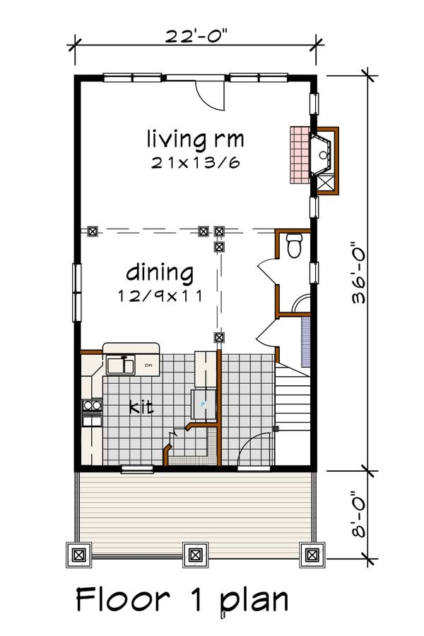 Dream House Plan - Craftsman Floor Plan - Main Floor Plan #79-315