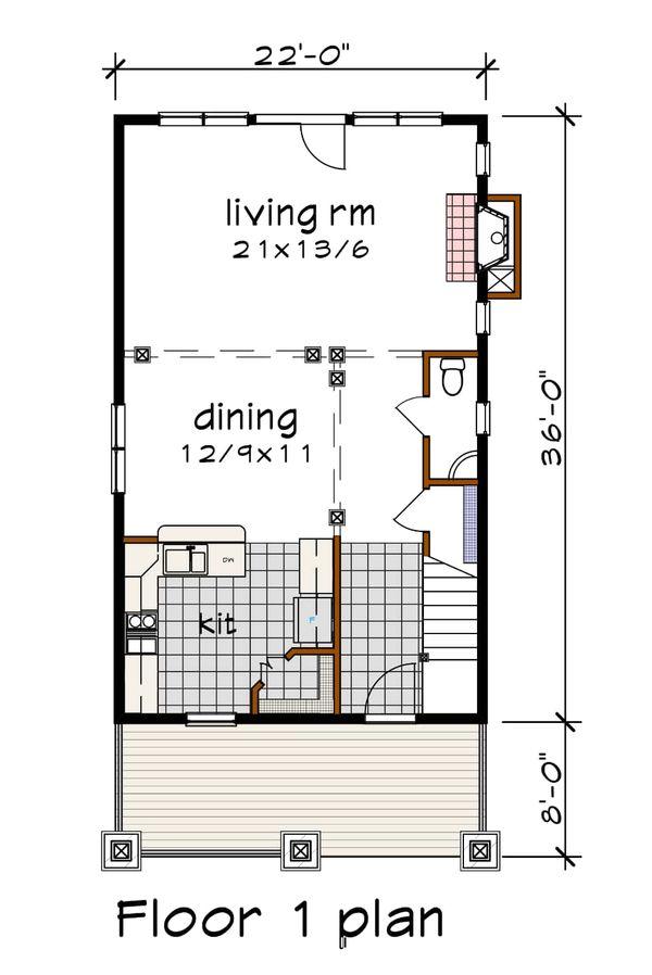 Craftsman Floor Plan - Main Floor Plan #79-315
