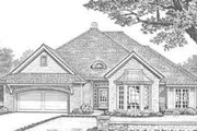European Style House Plan - 3 Beds 2.5 Baths 2176 Sq/Ft Plan #310-319 Exterior - Front Elevation