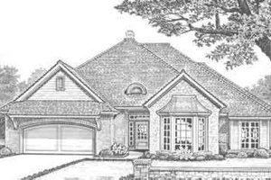 European Exterior - Front Elevation Plan #310-319