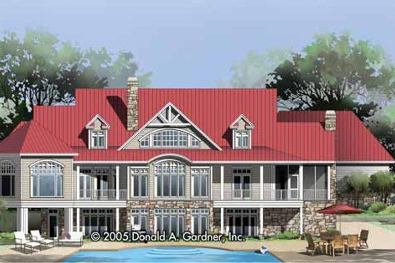 Craftsman Exterior - Rear Elevation Plan #929-800 - Houseplans.com