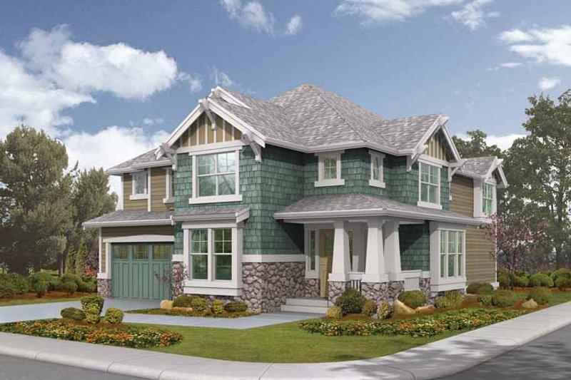 Architectural House Design - Craftsman Exterior - Front Elevation Plan #132-448