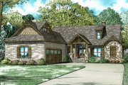 European Style House Plan - 3 Beds 2.5 Baths 2091 Sq/Ft Plan #17-3403 Exterior - Front Elevation