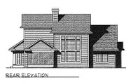Traditional Style House Plan - 4 Beds 2.5 Baths 2155 Sq/Ft Plan #70-320 Exterior - Rear Elevation