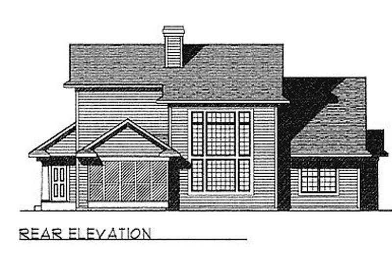 Traditional Exterior - Rear Elevation Plan #70-320 - Houseplans.com