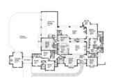 European Style House Plan - 4 Beds 3 Baths 4291 Sq/Ft Plan #310-1260 Floor Plan - Main Floor