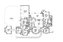 European Floor Plan - Main Floor Plan Plan #310-1260