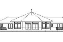 Ranch Exterior - Rear Elevation Plan #124-574