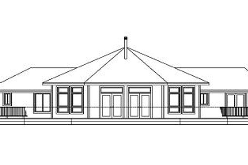 Ranch Exterior - Rear Elevation Plan #124-574 - Houseplans.com