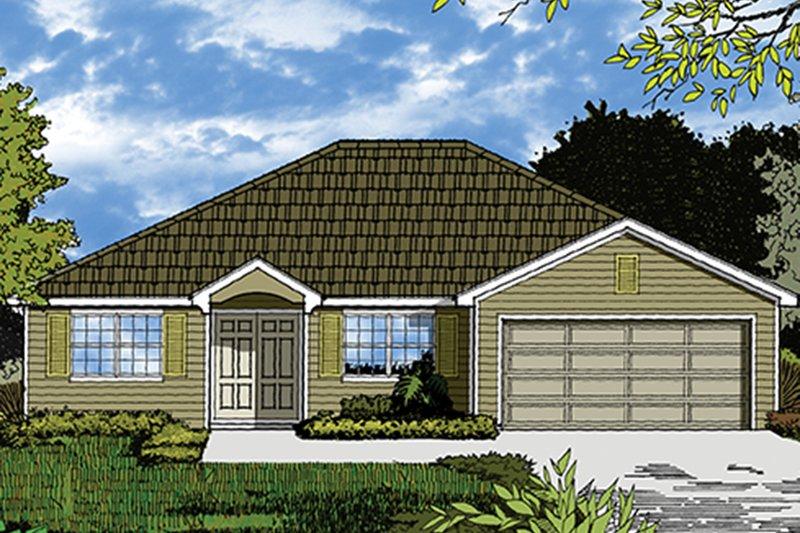 Architectural House Design - Mediterranean Exterior - Front Elevation Plan #417-821
