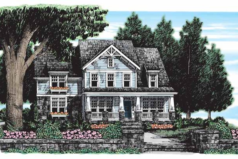Craftsman Exterior - Front Elevation Plan #927-165