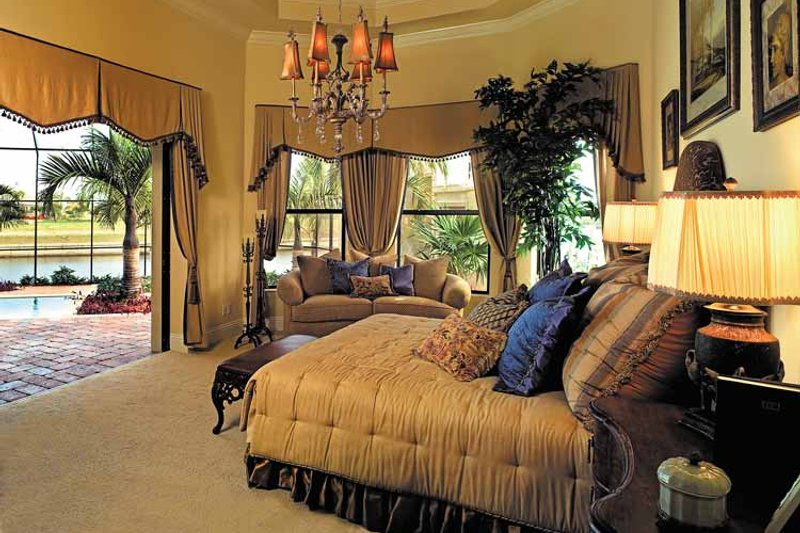 Mediterranean Interior - Master Bedroom Plan #930-353 - Houseplans.com